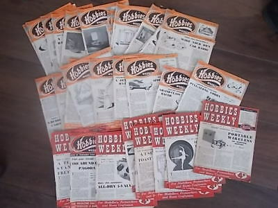 Job Lot Collection Of 40 Hobbies Weekly Magazines 1952-1955     Lot 2