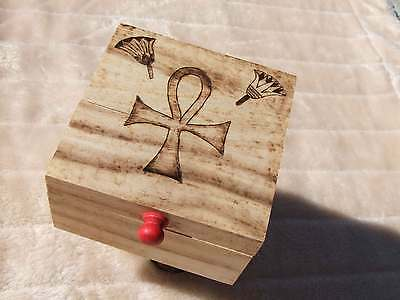Ankh Wooden Box Handmade - Witches Hotline