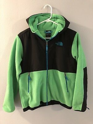 The North Face Lightweight Hoodie Jacket Green/Blue/Black Youth Size Large 14-16