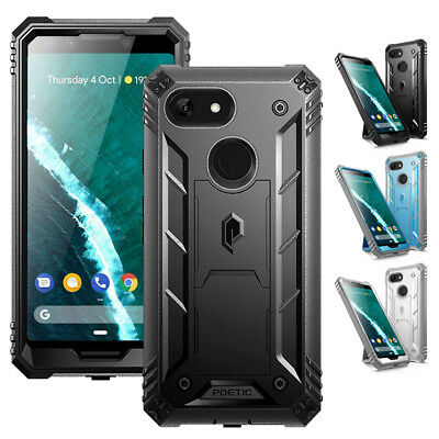 Poetic Revolution Heavy Duty Case Built-in-Screen Protector for Google Pixel 3
