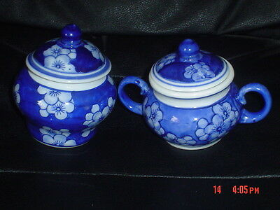 Oriental Sugar Pot And Small Ginger Jar? Blue And White Flowers