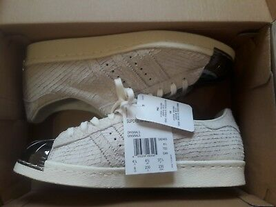 777d7f678a6a07 ADIDAS SUPERSTAR 80S Metal Toe OFF WHITE S82483 wmns US 11 Men US 10 ...