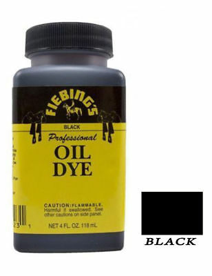 Fiebing's Professional Oil Leather Dye 118ml 4 oz Black