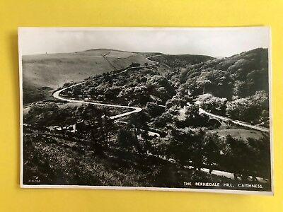 The Berriedale Hill Caithness Real Photograph Postcard Scotland