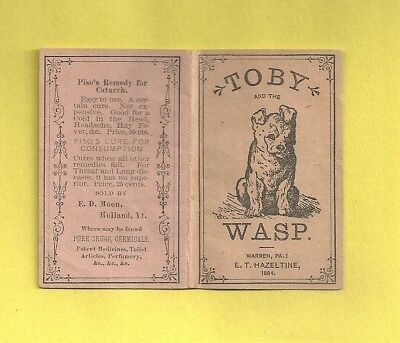1884 Miniature Illustrated Book TOBY & THE WASP Quack Medicine PISO'S REMEDY