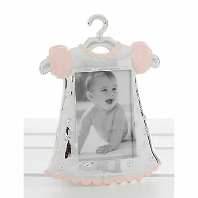 Silver Pink Baby Dress Photo Frame New Born Baby Shower Gift Accessory