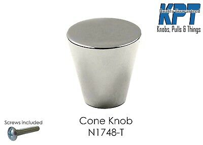 Cone Knob Pull Handle Kitchen Cabinet Hardware in Polish Chrome N-1748 by KPT