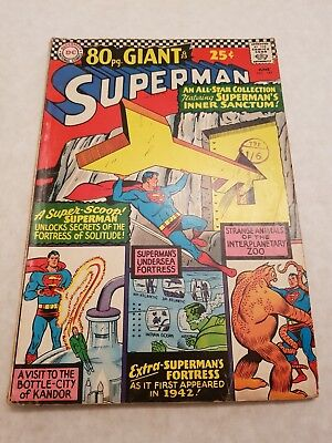 DC Comics Superman no 187 June 1966 80pg giant 25c USA - Bagged and Boarded