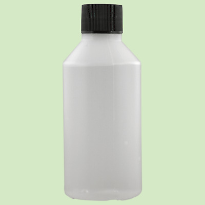 100ml Natural HDPE Bottle With Black Lid