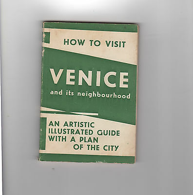 """Vintage """"How to visit Venice"""", Italy Travel guide - including color map - 1950s"""