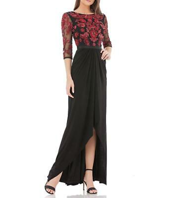 JS COLLECTIONS BEADED-BODICE Wrap-Skirt Gown-Size 8 -(F#06) - $89.00 ...