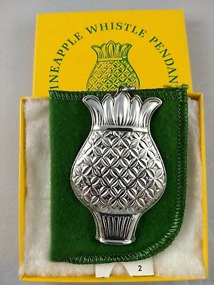 Towle Pineapple Sterling Silver Whistle Medallion Ornament, Mint, New, w/box,bag