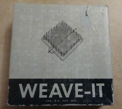 Vintage Donar Weave It Weaving Loom Original Box Needle Instructions