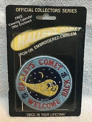 NEW IN BOX Vintage 1986 Halley's Comet Iron On Patch Joy Insignia Inc Space