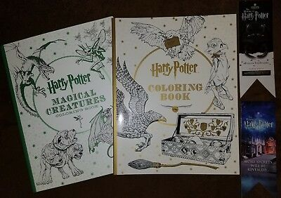 NEW LOT OF 2 Harry Potter Coloring Books Magical Creatures $31.98 ...
