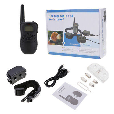 Rechargeable Anti Bark No Barking Dog Pet Training Shock Collar w/ LCD Remote