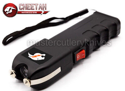 Cheetah Tactical High Powered Stun Gun Stungun Anti-Grab Technology LED Light