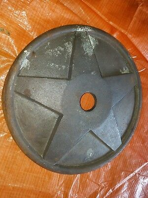 (1) ANTIQUE ca.1900 ARCHITECTURAL CAST IRON STAR WALL WASHER ANCHOR PLATE
