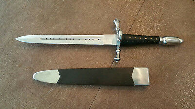 MEDIEVAL DAGGER w SHEATH Sword Stainless Knife Collectible Decorative Costume