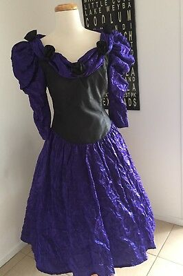 Vintage 80's Prom Dress COCKTAIL party HENS tragic bridesmaid FORMAL Halloween