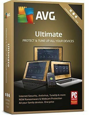 AVG ULTIMATE 2018 Devices Antivirus Genuine Licence  (2 Years/Unlimited)