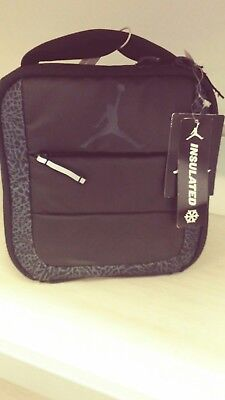 2804401fcbb Nike Air Jordan Jumpman Soft School Insulated Lunch Tote Bag Box Black