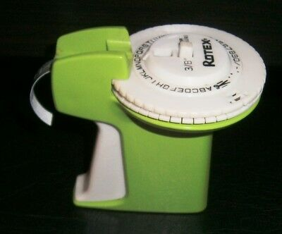 Vintage Green Plastic Rotex Label Maker With Dark Green Tape