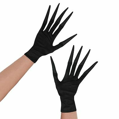 A932 Adult Skeleton Hands and Arms Halloween Ghost Reaper Ghoul Costume Gloves