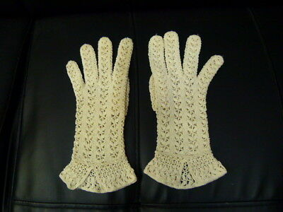 Vintage Crochet Ladies Gloves