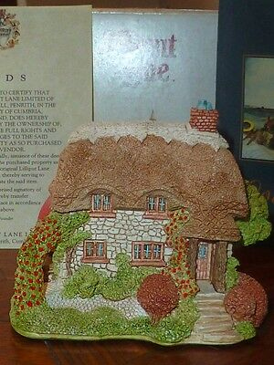 LILLIPUT LANE WIGHT COTTAGE ENGLISH COLL. SOUTH EAST, NIB Box, Booklet & Deed