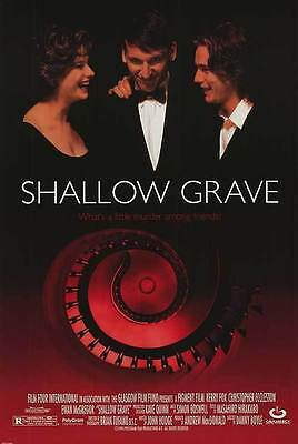 Shallow Grave Original S/S Int'l One Sheet Rolled Movie Poster 27x40 NEW 1994