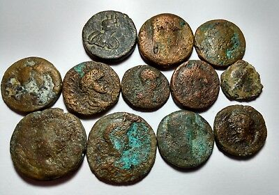 Lot Of 12 Bronze Late Roman City Coins  //489