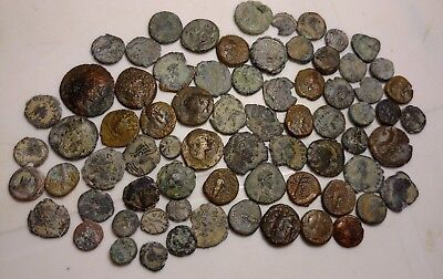 Lot Of 72 Bronze Greek And Roman Coins  //494