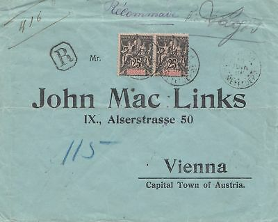 French colonies: Dahomey 1908: registered to Vienna