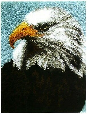 DIY Latch Hook Kit Craft about 21''*15'' Rug Cute Little Eagle