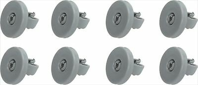 REX Electrolux Kit of 8 Wheels for Basket Lower Dishwasher Electrolux