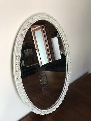 Beautiful Oval Antique Mirror Shabby Style Frame