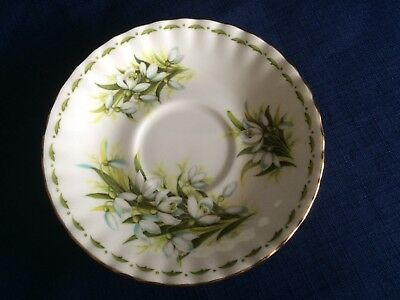 Royal Albert Flowers Of The Month January tea saucer (small pattern flaws)