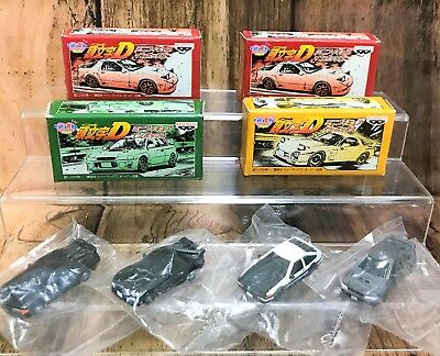 Set of 4 Initial D Mini Figure In Box BANPRESTO