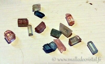 Lot de Cristaux de TOURMALINE bruts