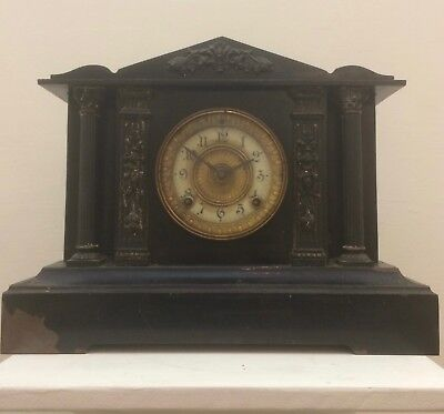 Ansonia Iron Mantle Clock Spares Or Repair, Clearance, No Reserve.
