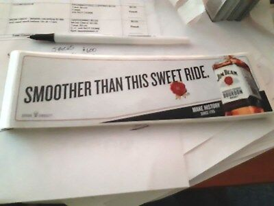 jim beam -smoother than this sweet ride -sticker new bottle