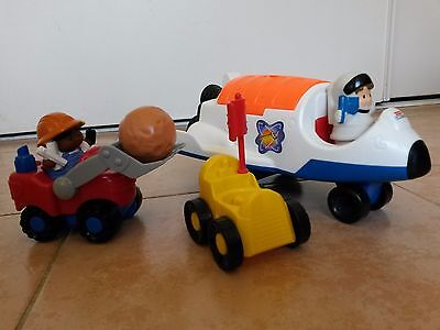 Little People Fisher Price - La navette spatiale + le tractopelle