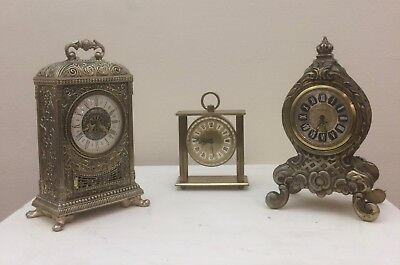Estyma, Talis, & Blessing Mantle Clocks, Spares, Repairs, No Reserve