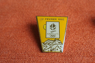 10521 Pin's Pins Jo Albertville 92 Olympic Games Renault Auto 12 Fevrier 1992
