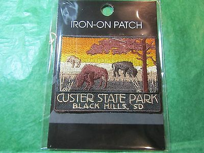 Custer State Park Black Hills S Dakota Embroidered Patch Travel Souvenir (P29