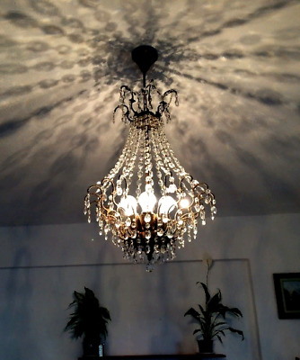 French Antique Style Vintage Spider Crystal Chandelier Stylish Ceiling Lighting
