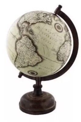 Vintage Globe Rotating Swivel Map of Earth Atlas Geography World Gift 27cm High