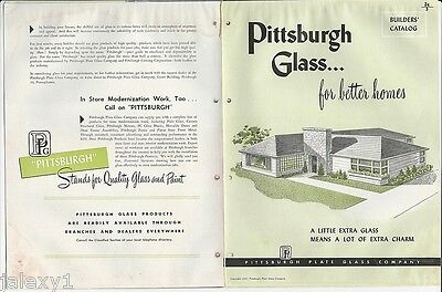 1948 PPG PITTSBURGH Extra GLASS =Extra Charm Decor Home Builders Vintage Catalog