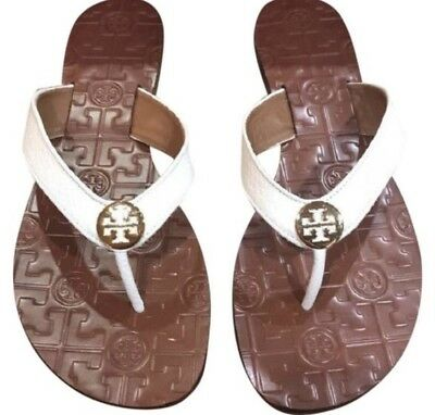 840d03dc0 NWB US Size 10 Tory Burch Bleach Gold New In Box Thora Tumbled Leather  Sandals